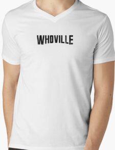 WHOVILLE Mens V-Neck T-Shirt