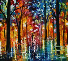 RAIN OF FIRE - LEONID AFREMOV by Leonid  Afremov