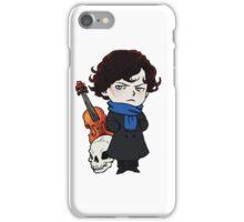 sherlock skull violin iPhone Case/Skin
