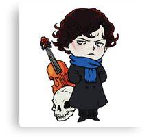 sherlock skull violin Canvas Print