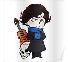 sherlock skull violin Poster