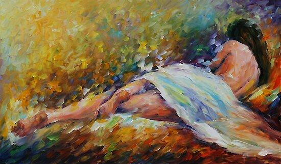 RESTING - LEONID AFREMOV by Leonid  Afremov