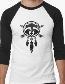Raccoon Catcher Men's Baseball ¾ T-Shirt