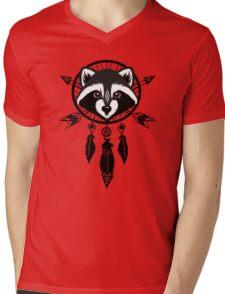 Raccoon Catcher Mens V-Neck T-Shirt