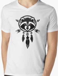 Raccoon Catcher Mens V-Neck T-Shirt
