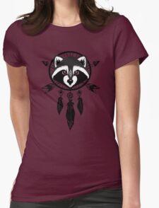 Raccoon Catcher Womens Fitted T-Shirt