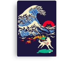 The Great Wave off Oni Island Canvas Print