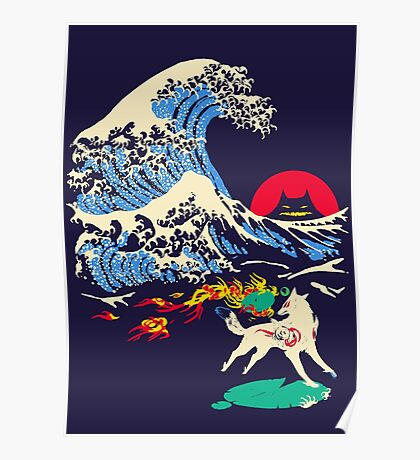 The Great Wave off Oni Island Poster