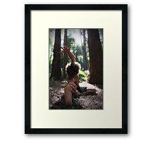 Forest Yoga Framed Print