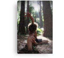 Forest Yoga Metal Print
