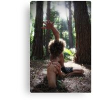Forest Yoga Canvas Print