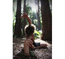 Forest Yoga Photographic Print