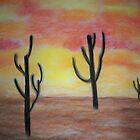 Desert Sunset by Coelina