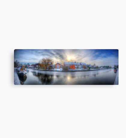 Icy River Panorama Canvas Print