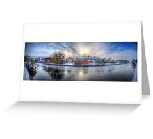Icy River Panorama Greeting Card
