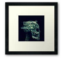 Internet vortex Framed Print