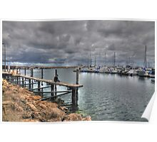 Fishing Hilary Boat Harbour Poster