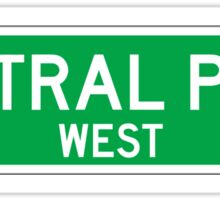 Central Park West, New York Street Sign, USA Sticker