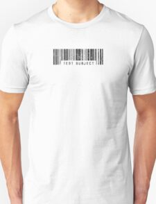 Test Subject Barcode Unisex T-Shirt