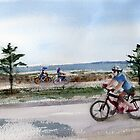 Pedaling - Altona Beach by Karin Zeller