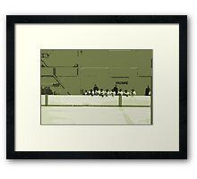 High School Hockey 101 Green - 3 Framed Print