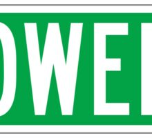 Bowery, New York Street Sign, USA Sticker