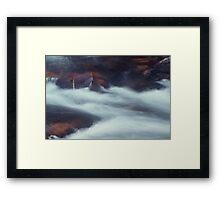 Water Over Red Rocks Framed Print