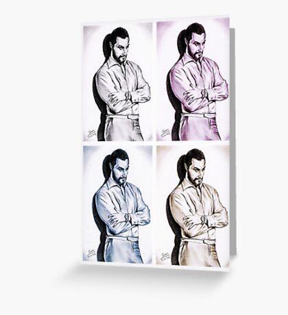 Richard Armitage, Andy Warhol style Greeting Card