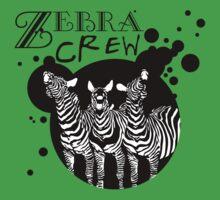 Zebra Crew Splatter for Light Apparel by David & Kristine Masterson