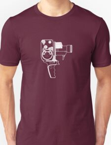 8mm Camera - Bolex - White Line Art Unisex T-Shirt