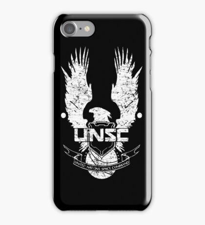UNSC LOGO HALO 4 - GRUNT DISTRESSED LOOK iPhone Case/Skin