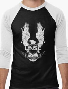 UNSC LOGO HALO 4 - GRUNT DISTRESSED LOOK Men's Baseball ¾ T-Shirt
