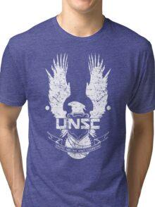 UNSC LOGO HALO 4 - GRUNT DISTRESSED LOOK Tri-blend T-Shirt