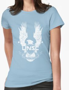 UNSC LOGO HALO 4 - GRUNT DISTRESSED LOOK Womens Fitted T-Shirt