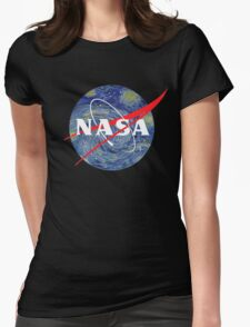 NASA starry night Womens Fitted T-Shirt