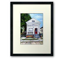 White Shotgun House Framed Print
