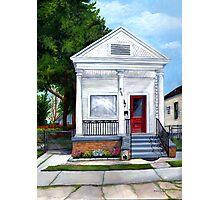 White Shotgun House Photographic Print