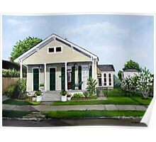 Historic Louisiana Home and Garden Poster