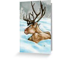 Reclining Rudolph Greeting Card