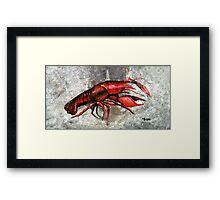 One Crawfish Framed Print