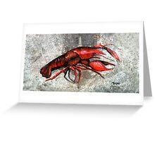 One Crawfish Greeting Card