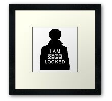 i am sher locked 2 Framed Print