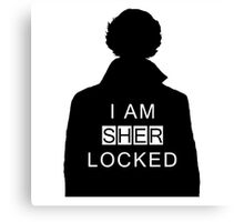 i am sher locked 2 Canvas Print