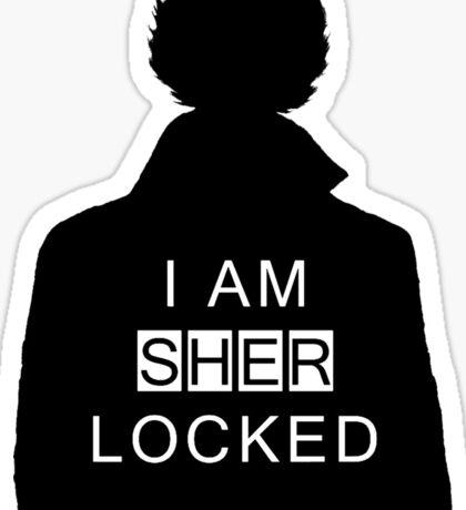 i am sher locked 2 Sticker