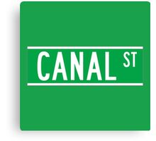 Canal St., New York Street Sign, USA Canvas Print