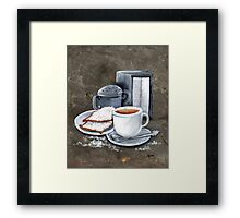 Cafe au lait and Beignets Framed Print