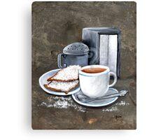 Cafe au lait and Beignets Canvas Print