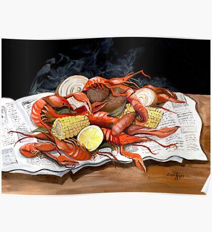 Steamy Crawfish Poster