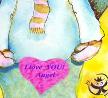 St. Valentine's Angel Sticker