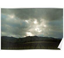 April Skys Over Vineyards  Poster